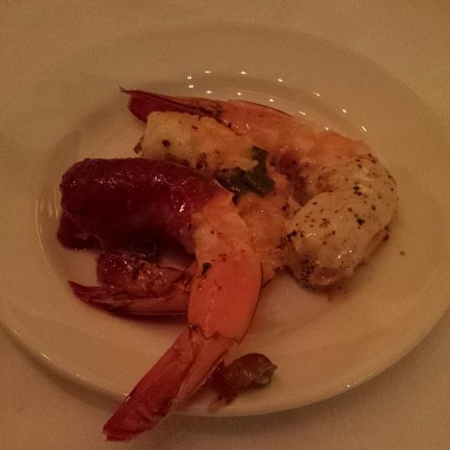 Shrimp time at Avangates party for #ASE14 at Del Frisco.