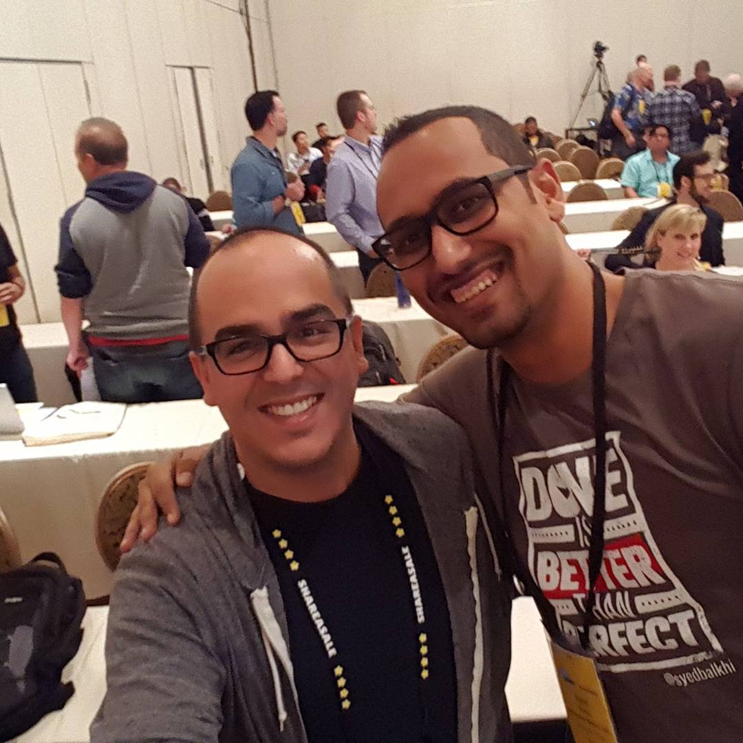 Hanging out with technically awesome @syedbalkhi  #asw16