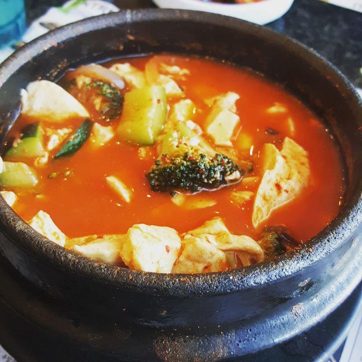 Going all vegetarian today!  #tofu #korean #vegetarian