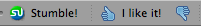 the StumbleUpon thumbs up button