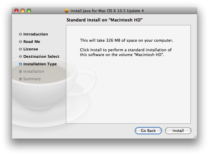 OS X Java update failed