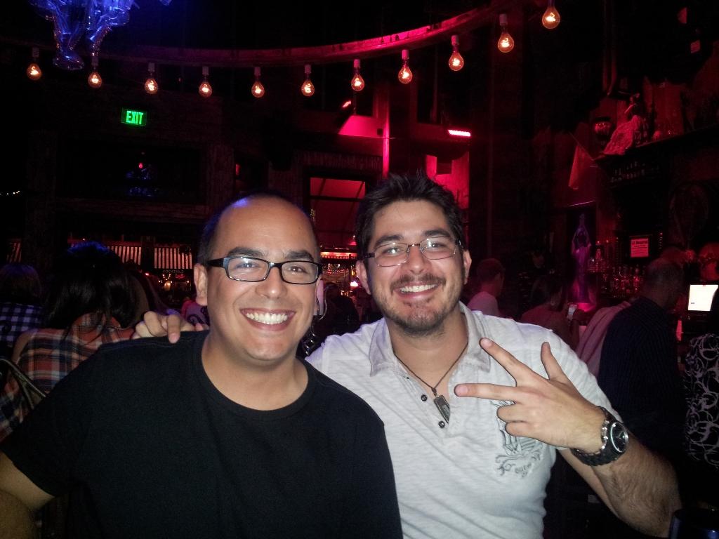 Carlos Barahona and me.