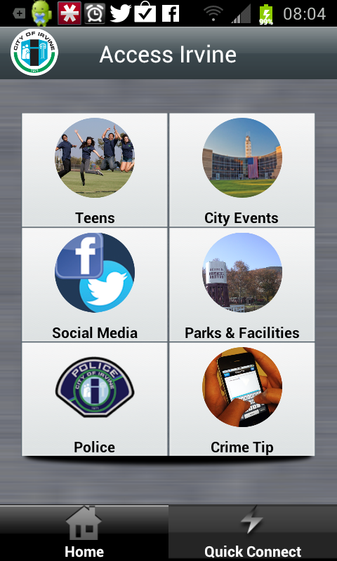 Access Irvine, The City of Irvine's First Mobile App