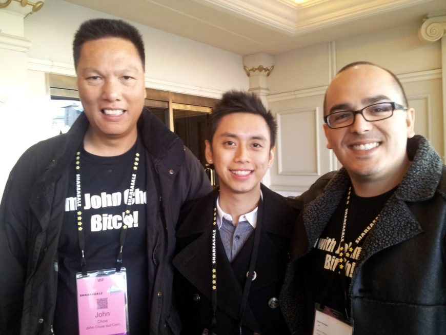 John Chow, Peng Joon and me