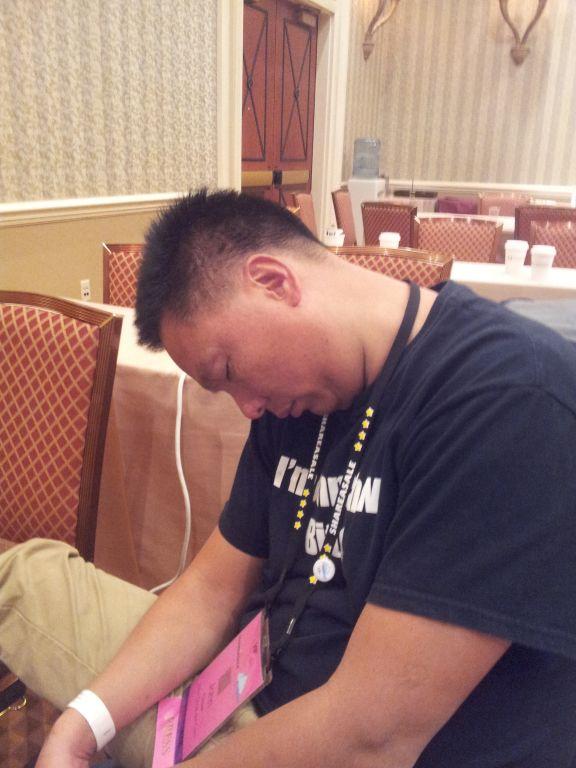 John Chow Sleeping