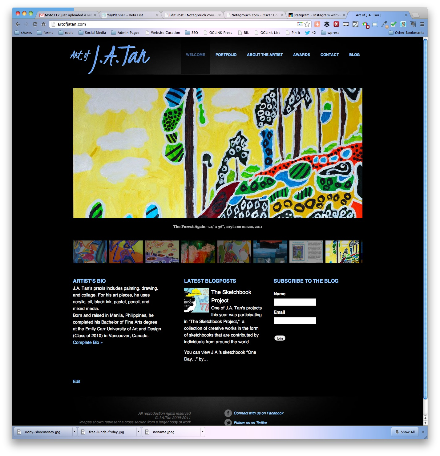 Autistic Artist J.A. Tan's Gallery online