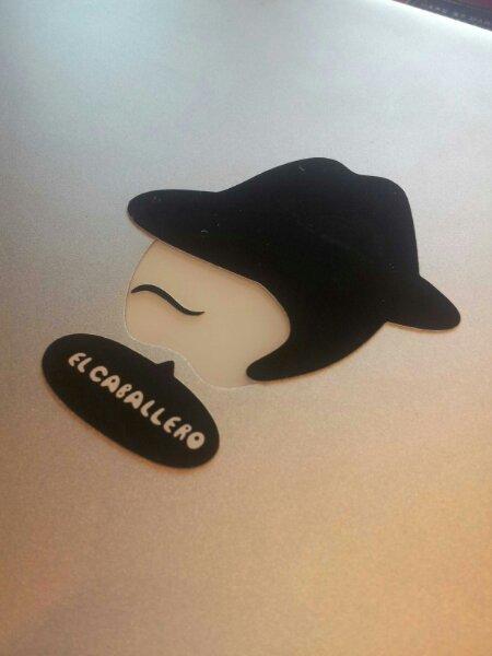 El Caballero Sticker on a Mac Picture
