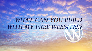 What Can I do with a your Free Website?