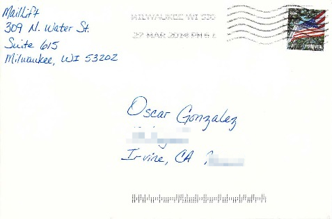 postmarked mail