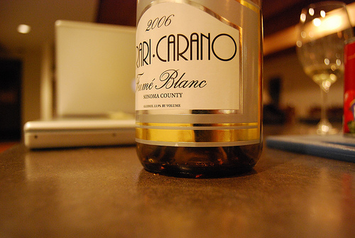 Photo of a fume blanc bottle from Ferrari Carano