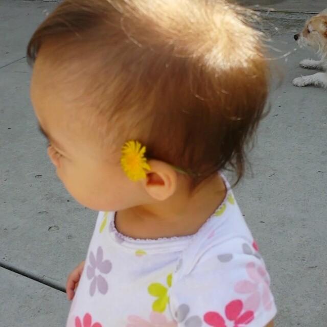 Flower on her Ear