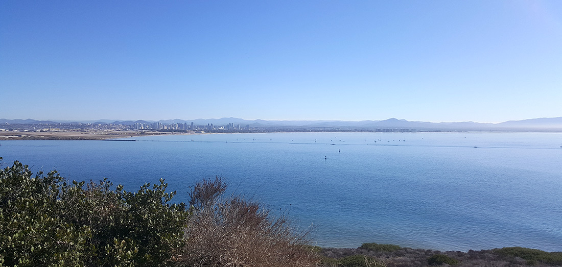 Bayside Trail scenic views of The San Diego bay