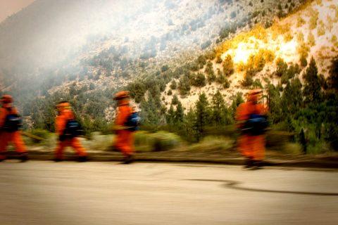Firemen mobilizing