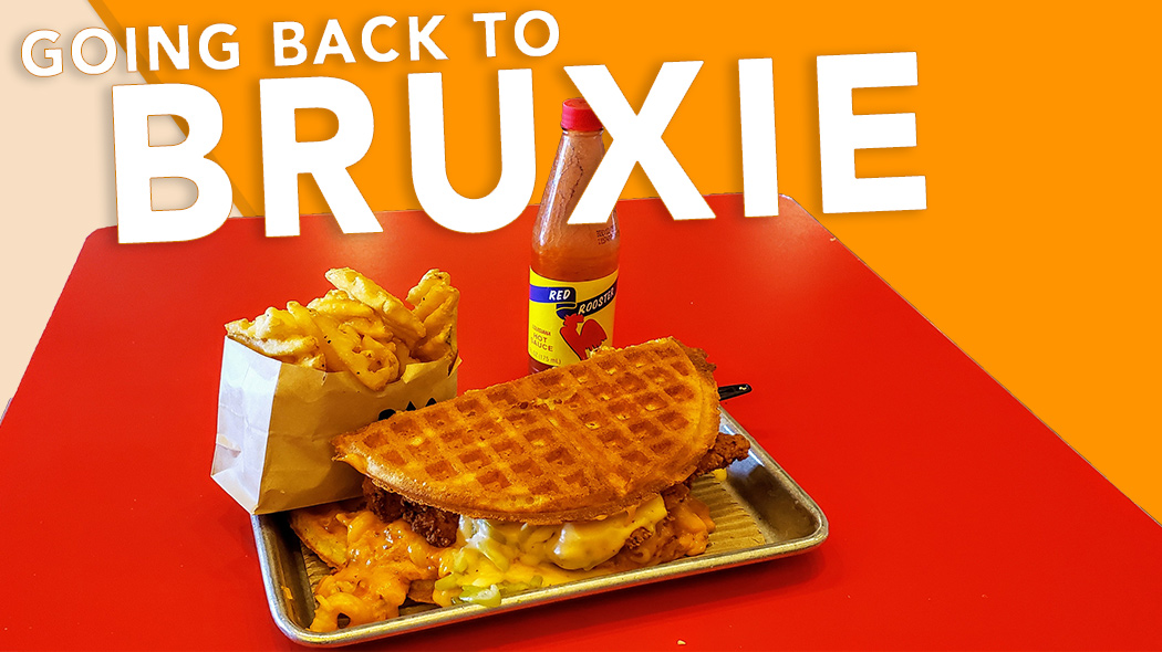 "Cover image for post about Bruxie and BAMF. Features the BAMF sandwich and the words ""Going Back to Bruxie"""