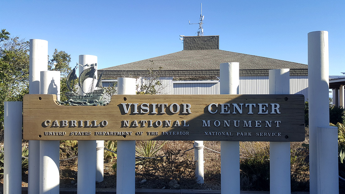 Cabrillo National Monument Visitor Center Sign