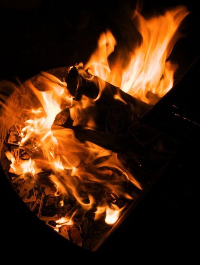 Burning baseball cards