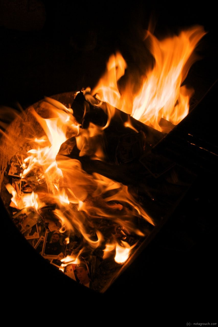 Burning baseball cards