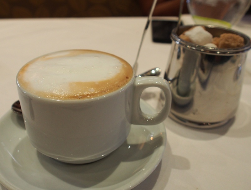 Marché Moderne serves a great capuccino to finish off your meal