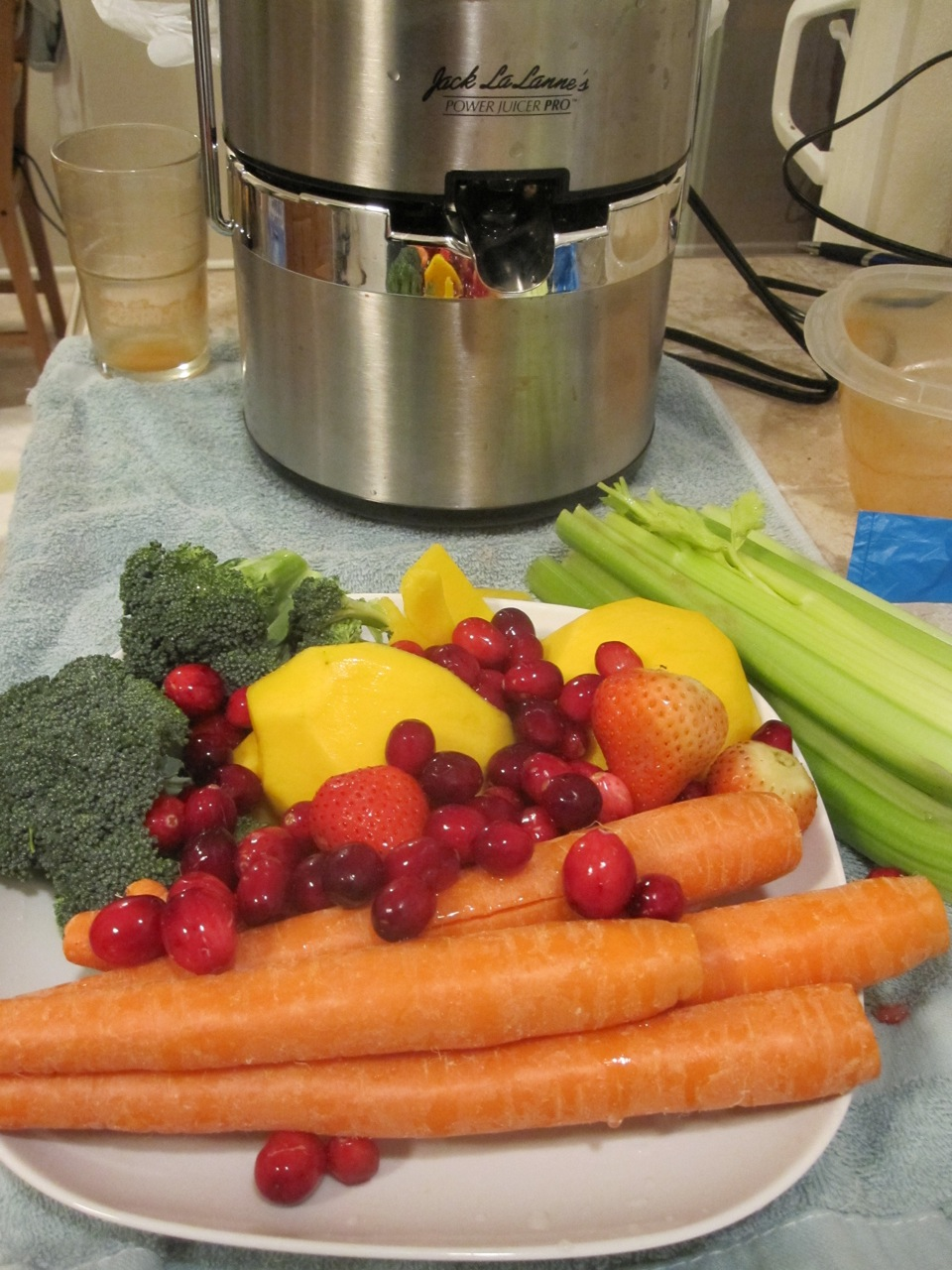 Juicer & ingredients
