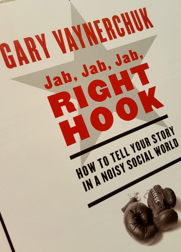 Picture of the Inside Cover of Jab Jab Jab Right Hook.