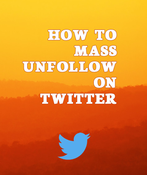 Cover image for Mass unfollow on Twitter article