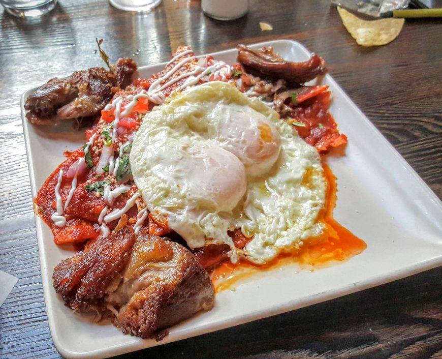 Chilaquiles should always have a sunny side up or over easy egg.