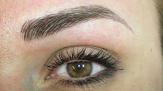 Picture of the results of microblading
