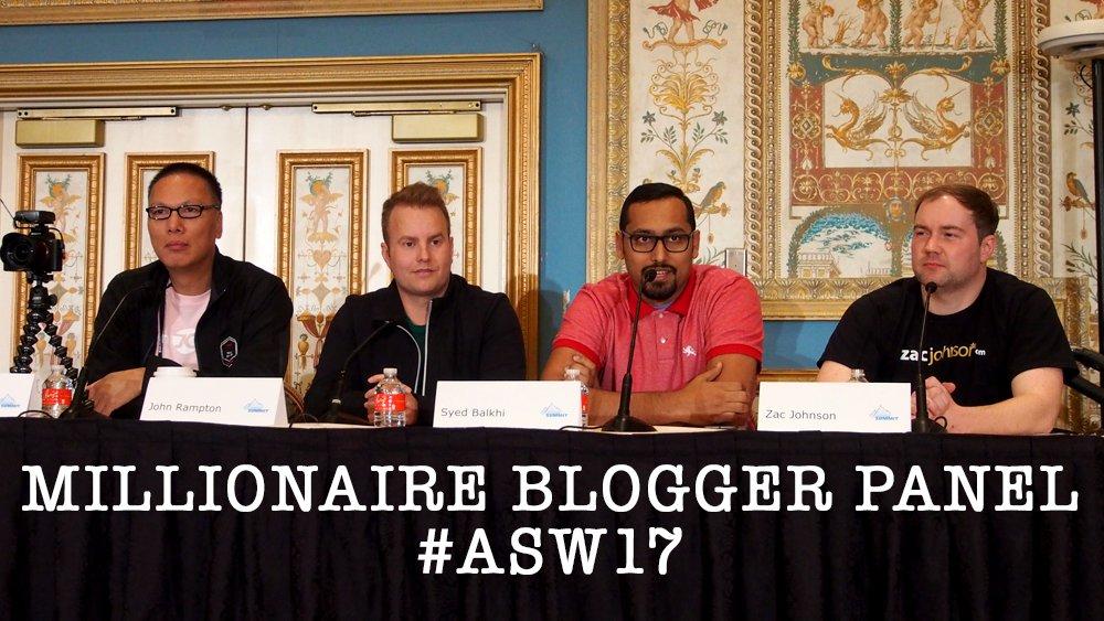 Photo of the panelists, John Chow, John Rampton, Syed Balkhi and Zac Johnson