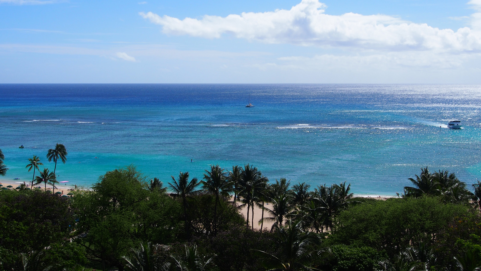 Ocean view at the Hilton Hawaiian Village