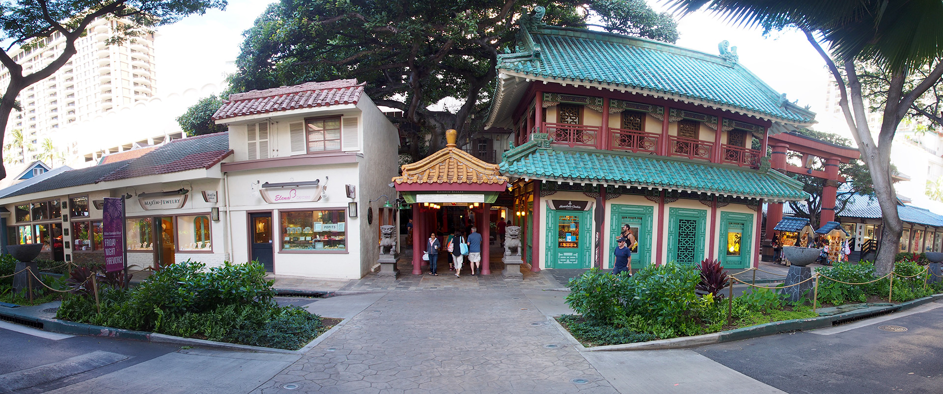 Rainbow Bazaar entrance Waikiki