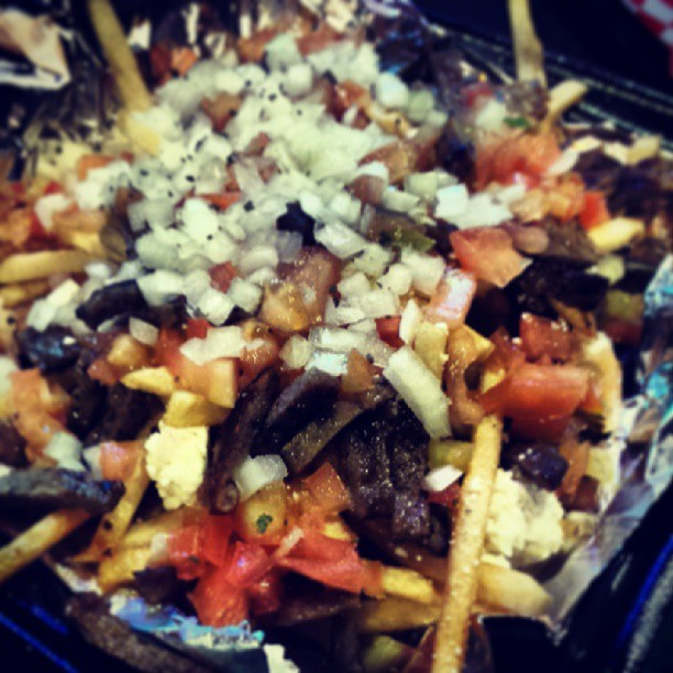 Greek fries at Peter's Gourmade.
