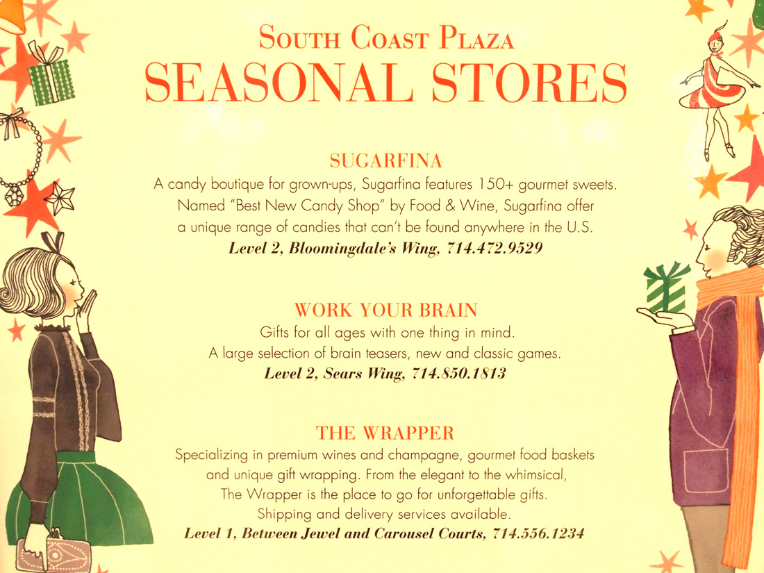 South Coast Plaza sets up seasonal stores!