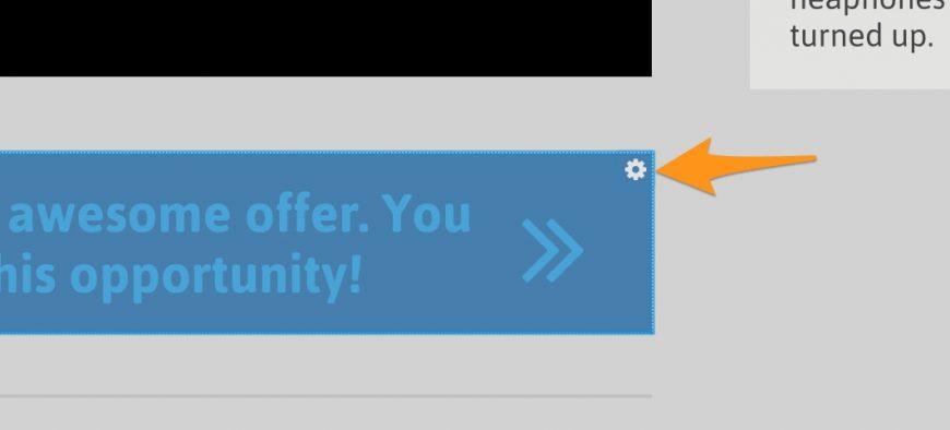 screenshot showing cogwheel option