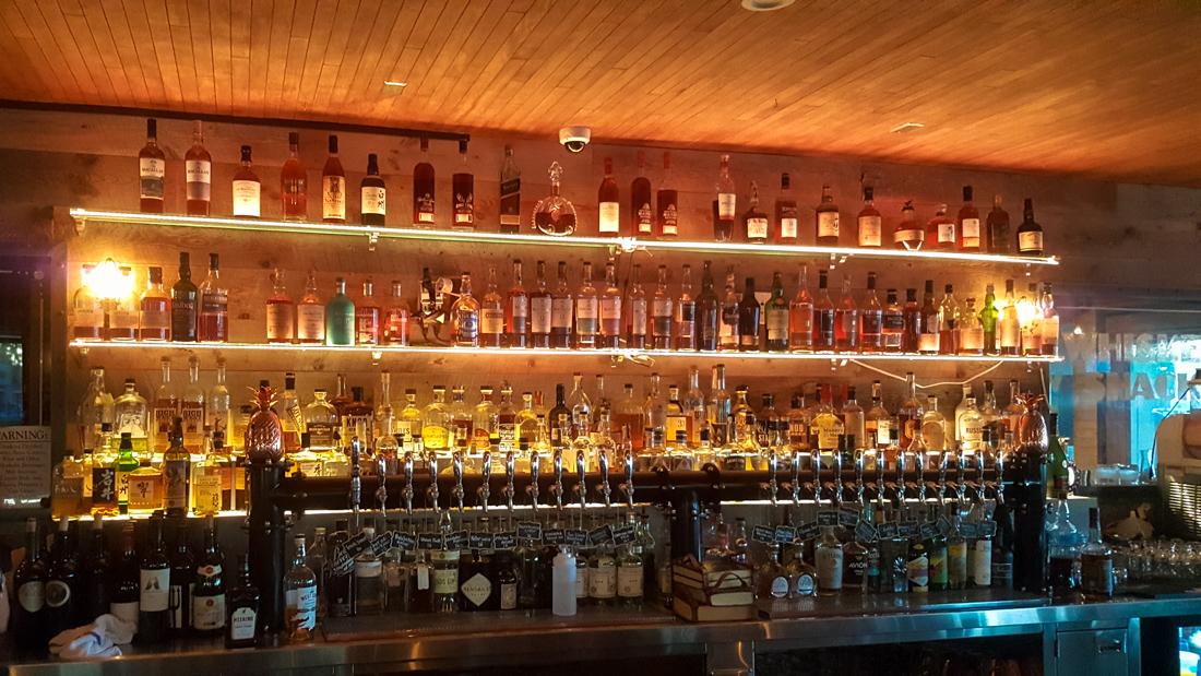 The bar at The Recess Room